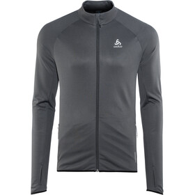 Odlo FLI Full-Zip Midlayer Herren black-odlo graphite grey-stripes